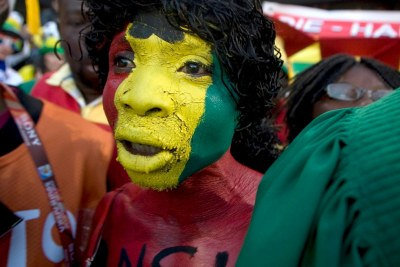 Ghanaian supporters singing (file photo).