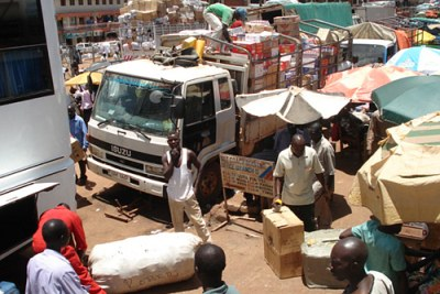 Vehicles loaded with goods to take to Juba and other Southern Sudan towns (file photo).