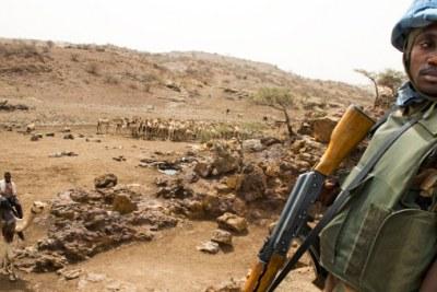 Rwandan peacekeeper in Darfur.