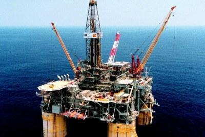Oil rig in Nigeria.