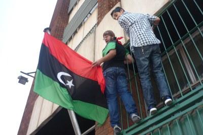 Libyans celebrate Gaddafi's fall in Zimbabwe (file photo).