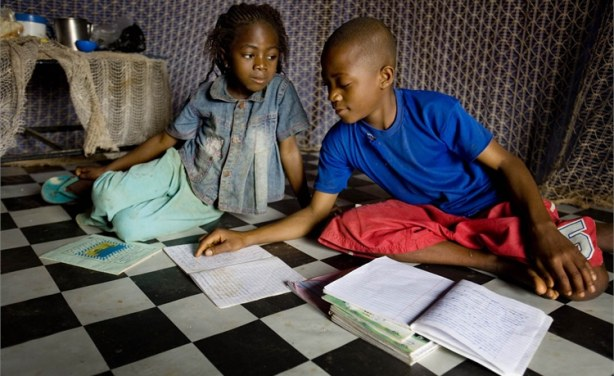 Image result for nigerian children doing homework