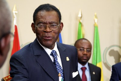 President Teodoro Obiang of Equatorial Guinea at the 17th Ordinary Africa Union Summit.