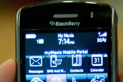 A BlackBerry Storm.