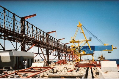 Construction site in Port Safaga.