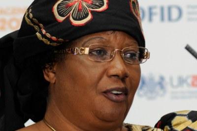 La nouvelle présidente du Malawi Joyce Banda.