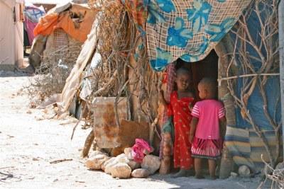 Un camp de personnes déplacées à Garowe, Puntland