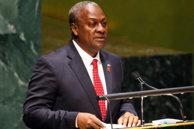 President John Dramani Mahama addresses the UN General Assembly. (file photo)