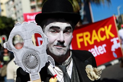 File photo: Capetonians march in 2011 against Shell's fracking plans in the Karoo.