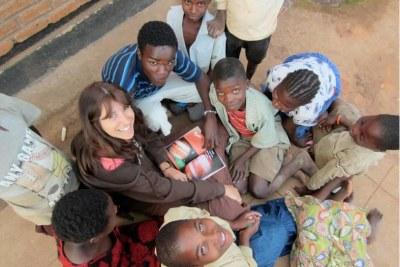 University of California, Riverside''s Gabriela Canalizo teaches astronomy to Malawian children.