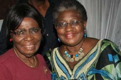 A gang of armed men has seized 83-year-old Kamene Okonjo, left, mother of Nigerian finance minister, Ngozi Okonjo-Iweala.