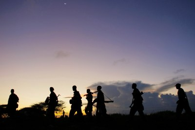 Soldiers of the Somali National Army (file photo).