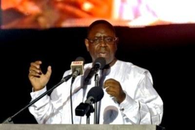Le président Macky Sall en Gambie