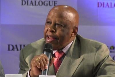 Festus Moghae, former president of Botswana, presiding at the Daily Trust dialogue in Abuja.