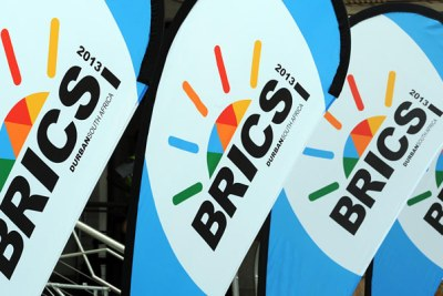 BRICS banner lifted for the fifth BRICS Summit at the Albert Luthuli International Convention Centre in Durban, where the BRICS Business Council was first launched.