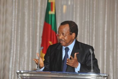 Cameroon President Paul Biya.