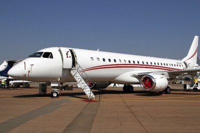 Aircraft parked at South Africa's Waterkloof Air force Base which is considered a national key point (file photo).