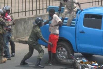 Manifestation de l'opposition à Conakry
