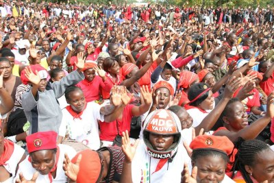 MDC-T supporters at a recent rally in Harare