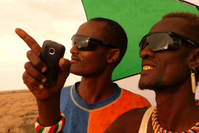 Kenyans view the eclipse visible in the north.