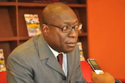 Paolo Gomes, candidat à la présidentielle d'avril 2014 en Guinée-Bissau (Dakar, le 13-02-2014)