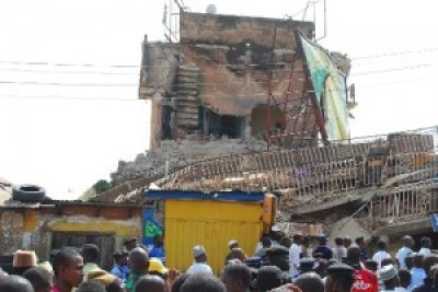 Collapsed building in Abuja (file photo)