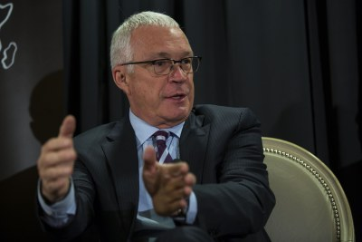 Jay Ireland, president and CEO of GE Africa, at the 'Powering Africa' panel sponsored by Africare.