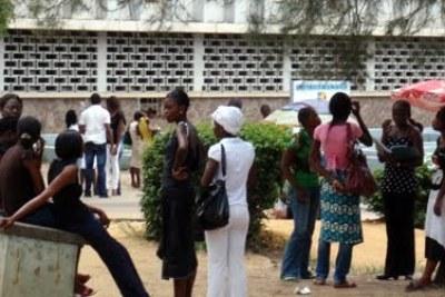 Des étudiants de l'Université de Kinshasa.