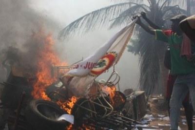 Protests in Ouagadougo.