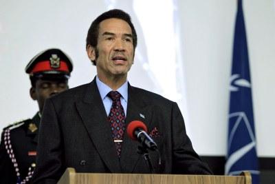 Former Botswana President Ian Khama (file photo).