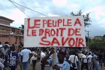 La marche de l'opposition gabonaise