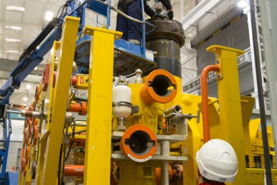 GE oil and gas installation
