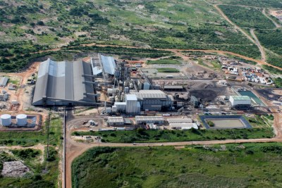 Aerial view of expanded Kenmare Resources processing plant.