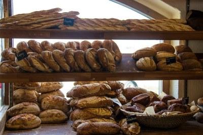 Sélection de pains.