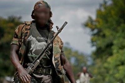 (archive) - Un milicien dans l'Est de la RDC.