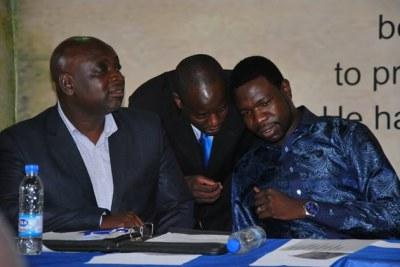 Zimbabwe PHD Prophet Walter Magaya, Williard Manyengavana and Sweeney Mushonga.