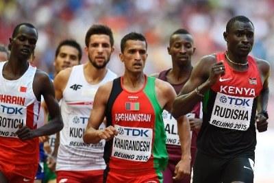 David Rudisha during the 800m semi-final race.