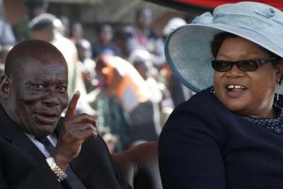 The late Solomon Mujuru and Joice Mujuru.