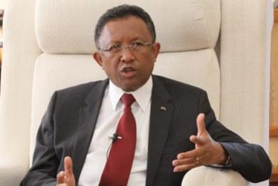 Hery Rajaonarimampianina, président de Madagascar.