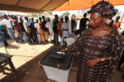 Voting in Sunday's presidential election.