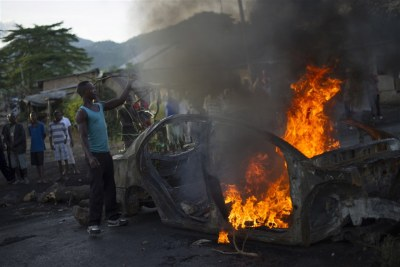 violence in Bujumbura (file photo).
