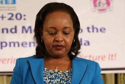 Former Devolution Cabinet Secretary Anne Waiguru.