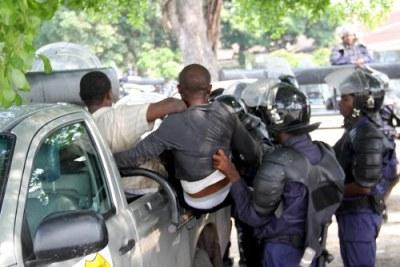 (Photo d'archives) - Des policiers congolais participant à l'Opération Likofi dans la capitale de la RD Congo, Kinshasa,