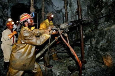 Diamonds mining in Zimbabwe.