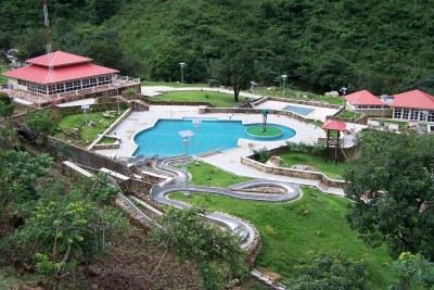 Calabar (Aerial view of the reception area of Tinapa Resort).