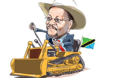 Dubbed the bulldozer, Tanzania under President John Magufuli tutelage is slowly reshaping how the future of regional mega projects will be determined (file photo).