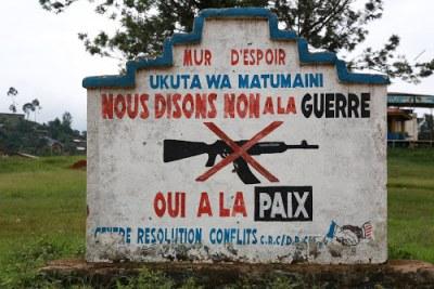 Mur pour la paix à Beni (archive)