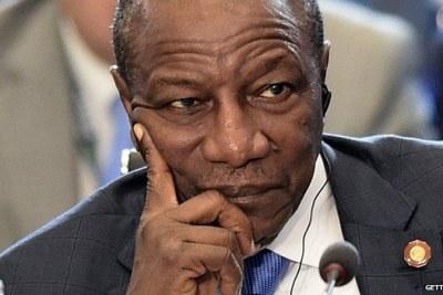 Alpha Condé , le président de la république de Guinée