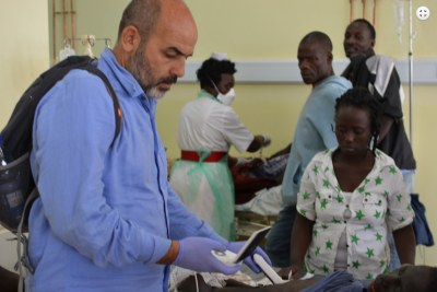 At the city's main hospital, the team was struck by the outdated machinery, influx of foreign doctors, and lack of resources. 'The local medical community was eager to learn about general imaging, in particular to scan the bladder, abdomen and chest. They have many medical problems in their community and often no solutions,' said Dr. Mumoli