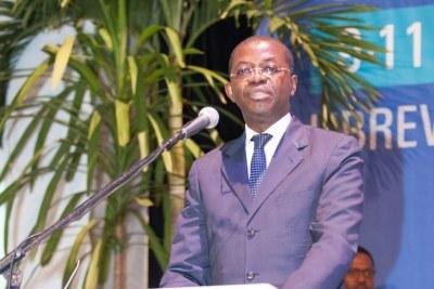 Mr. Séraphin Moundounga, ministre de la Justice et des droits humains, garde des sceaux du Gabon